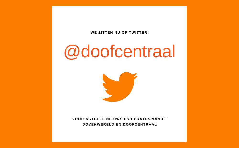 DoofCentraal is nu op Twitter