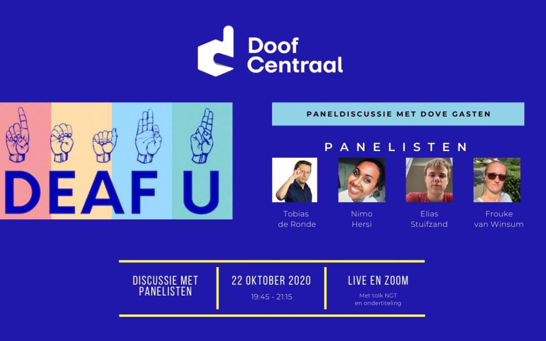 Paneldiscussie: DeafU (PLUS)