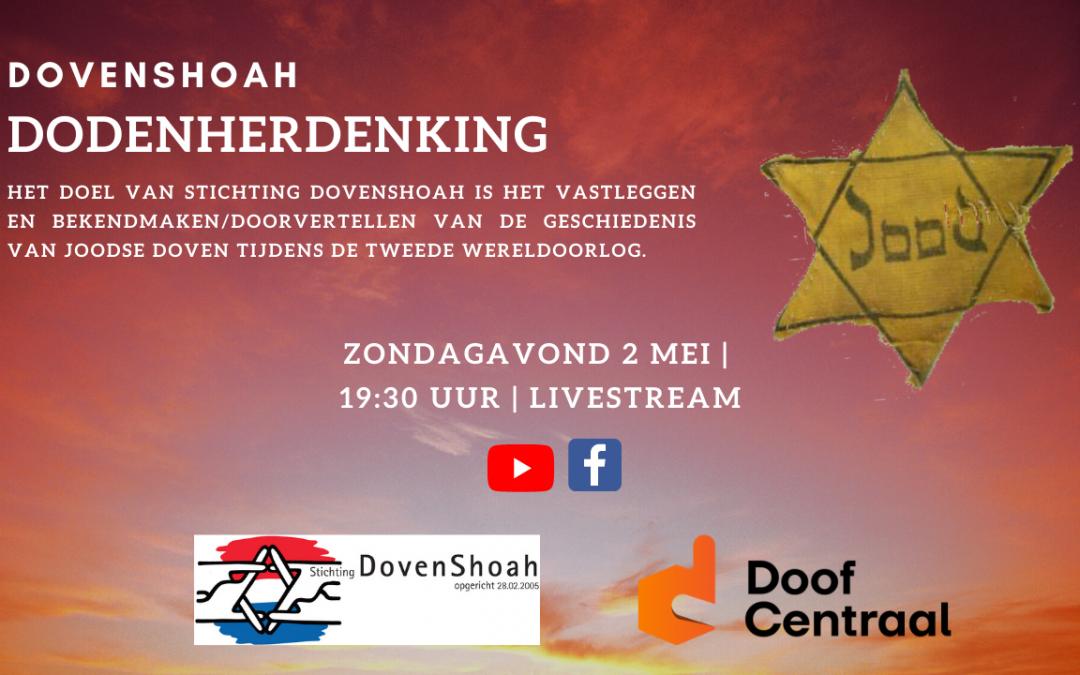 Live met DovenShoah staat op website
